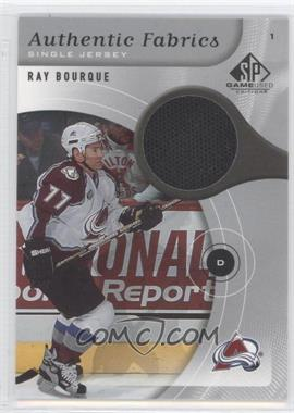 2005-06 SP Game Used Edition Authentic Fabrics #AF-RB - Ray Bourque