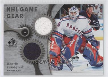 2005-06 SP Game Used Edition NHL Game Gear #GG-HL - Henrik Lundqvist /100