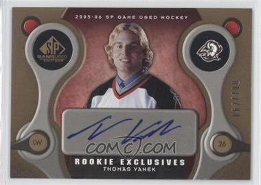 2005-06 SP Game Used Edition Rookie Exclusives [Autographed] #RE-TV - Thomas Vanek /100
