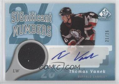 2005-06 SP Game Used Edition Significant Numbers [Autographed] #SN-TV - Thomas Vanek /26