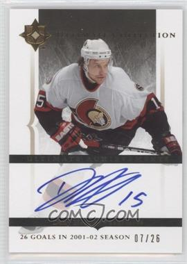 2005-06 Ultimate Collection Ultimate Achievements [Autographed] #UA-DH - Dany Heatley /26