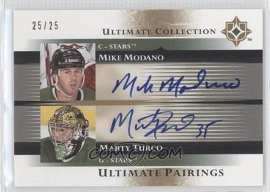 2005-06 Ultimate Collection Ultimate Pairings [Autographed] #UP-MT - Mike Modano, Marty Turco /25