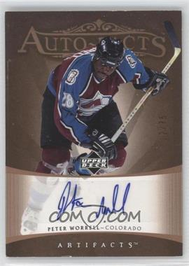 2005-06 Upper Deck Artifacts Auto-Facts Copper [Autographed] #AF-PW - Peter Worrell /75