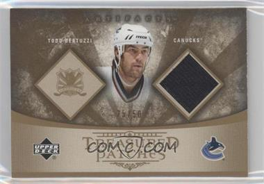 2005-06 Upper Deck Artifacts Treasured Patches #TP-TB - Todd Bertuzzi /50