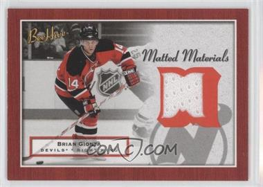 2005-06 Upper Deck Bee Hive Matted Materials #MM-GI - Brian Gionta