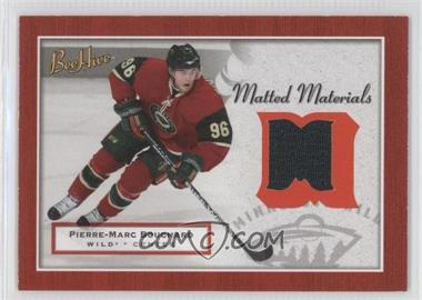 2005-06 Upper Deck Bee Hive Matted Materials #MM-PB - Pierre-Marc Bouchard