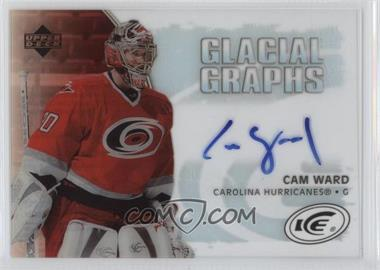 2005-06 Upper Deck Ice - Glacial Graphs - [Autographed] #GG-CW - Cam Ward