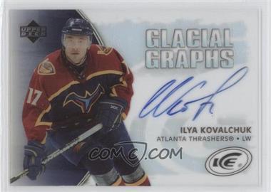 2005-06 Upper Deck Ice Glacial Graphs [Autographed] #GG-IK - Ilya Kovalchuk