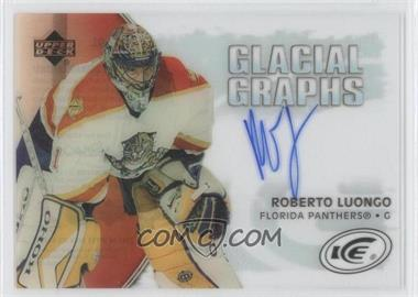 2005-06 Upper Deck Ice Glacial Graphs [Autographed] #GG-RL - Roberto Luongo