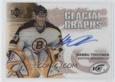 2005-06 Upper Deck Ice Glacial Graphs Label #GG-HT - Hannu Toivonen