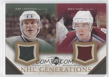 2005-06 Upper Deck NHL Generations Duals Game-Used Memorabilia #D-LH - Jere Lehtinen, Riku Hahl
