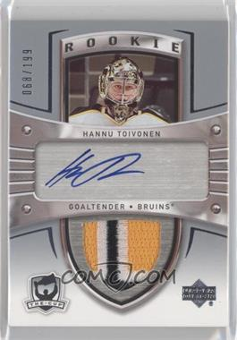 2005-06 Upper Deck The Cup - [Base] #108 - Auto Rookie Patch - Hannu Toivonen /199