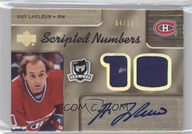2005-06 Upper Deck The Cup Dual-Sided Scripted Numbers #DSN-LS - Guy Lafleur, Steve Shutt /10
