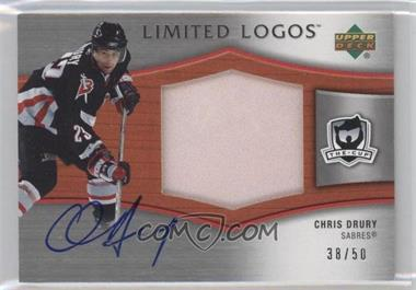 2005-06 Upper Deck The Cup Limited Logos Autographs #LL-CD - Chris Drury /50