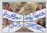 Jean Beliveau, Tony Esposito, Henri Richard, Gerry Cheevers /2