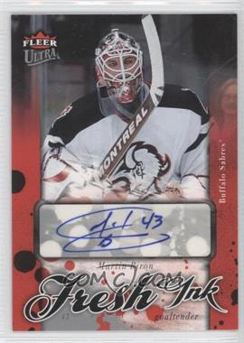 2006-07 Fleer Ultra Fresh Ink [Autographed] #I-MB - Martin Biron