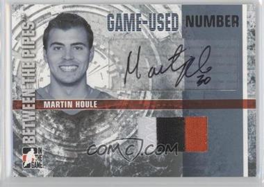 2006-07 In the Game Between the Pipes Game-Used Silver Number Autographs [Autographed] #GUN-MH - Martin Houle /10