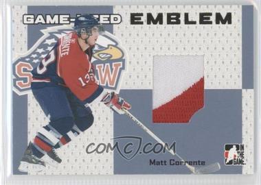 2006-07 In the Game Heroes and Prospects Game-Used Emblems #GUE-1 - Matt Cooke