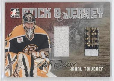2006-07 In the Game Heroes and Prospects Stick & Jersey Silver #SJ-18 - Hannu Toivonen /100