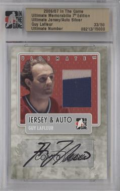 2006-07 In the Game Ultimate Memorabilia 7th Edition Jersey & Auto Silver #GULA - Guy Lafleur /50