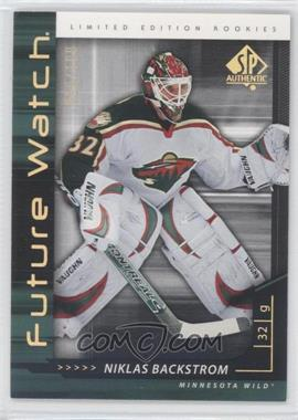 2006-07 SP Authentic Limited #236 - Niklas Backstrom /100