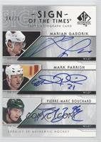 Marian Gaborik, Mark Parrish, Pierre-Marc Bouchard /25