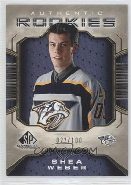 2006-07 SP Game Used Edition - [Base] - Gold #128 - Shea Weber /100