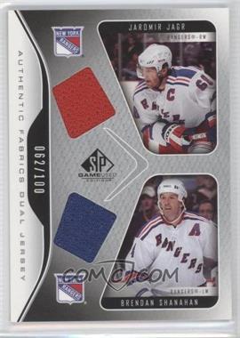 2006-07 SP Game Used Edition [???] #AF2-SJ - Jaromir Jagr, Brendan Shanahan /100