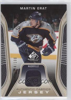 2006-07 SP Game Used Edition Authentic Fabrics Gold Jersey #AF-ME - Martin Erat /100