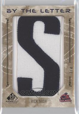 2006-07 SP Game Used Edition By the Letter #BL-RN - Rick Nash /4