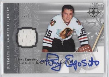 2006-07 Ultimate Collection - Autographed Jerseys #AJ-TE - Tony Esposito /50