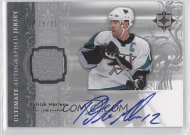 2006-07 Ultimate Collection Autographed Jerseys #AJ-PM - Patrick Marleau /50