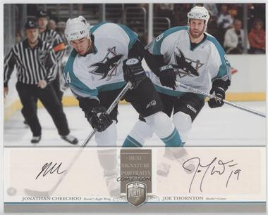 2006-07 Upper Deck Be A Player Portraits Dual Signature Portraits #DS-CT - Jonathan Cheechoo, Joe Thornton