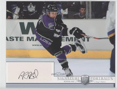 2006-07 Upper Deck Be A Player Portraits Signature Portraits #SP-RB - Rob Blake