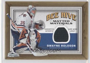 2006-07 Upper Deck Bee Hive Matted Materials #MM-DR - Dwayne Roloson
