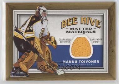 2006-07 Upper Deck Bee Hive Matted Materials #MM-HT - Hannu Toivonen