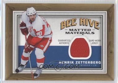 2006-07 Upper Deck Bee Hive Matted Materials #MM-HZ - Henrik Zetterberg