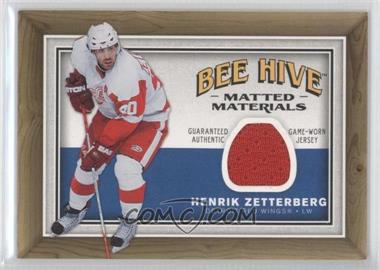 2006-07 Upper Deck Bee Hive Matted Materials #MM-HZ - Henrik Zetterberg