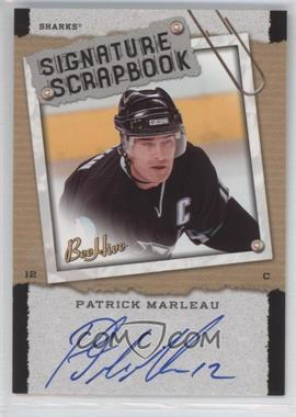 2006-07 Upper Deck Bee Hive Signature Scrapbook [Autographed] #SS-PM - Patrick Marleau