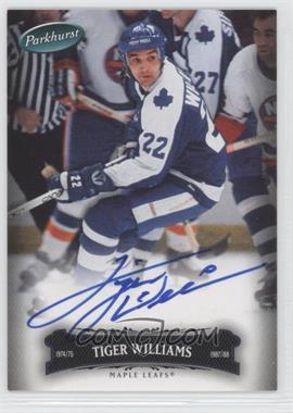 2006-07 Upper Deck Parkhurst Autographs [Autographed] #149 - Tiger Williams