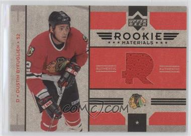 2006-07 Upper Deck Rookie Materials #RM-DB - Dustin Byfuglien