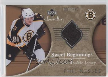 2006-07 Upper Deck Sweet Shot - [Base] #104 - Sweet Beginnings Rookie Jersey - Phil Kessel /499