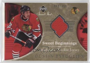 2006-07 Upper Deck Sweet Shot - [Base] #114 - Sweet Beginnings Rookie Jersey - Dustin Byfuglien /499