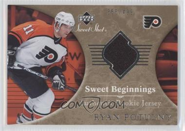 2006-07 Upper Deck Sweet Shot - [Base] #142 - Sweet Beginnings Rookie Jersey - Ryan Potulny /499