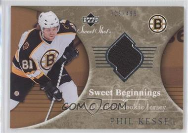 2006-07 Upper Deck Sweet Shot #104 - Sweet Beginnings Rookie Jersey - Phil Kessel /499