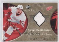 Sweet Beginnings Rookie Jersey - Tomas Kopecky /499