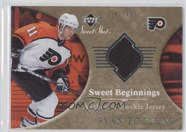 2006-07 Upper Deck Sweet Shot #142 - Ryan Potulny /499
