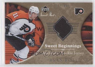 2006-07 Upper Deck Sweet Shot #142 - Sweet Beginnings Rookie Jersey - Ryan Potulny /499