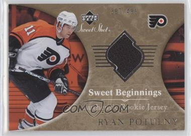 2006-07 Upper Deck Sweet Shot #142 - Sweet Beginnings Rookie Jersey - Ryan Potulny /499