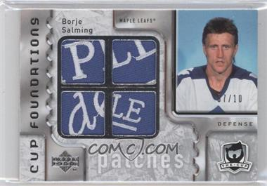 2006-07 Upper Deck The Cup Cornerstones Quadruple Patches #CQ-SA - Borje Salming /10